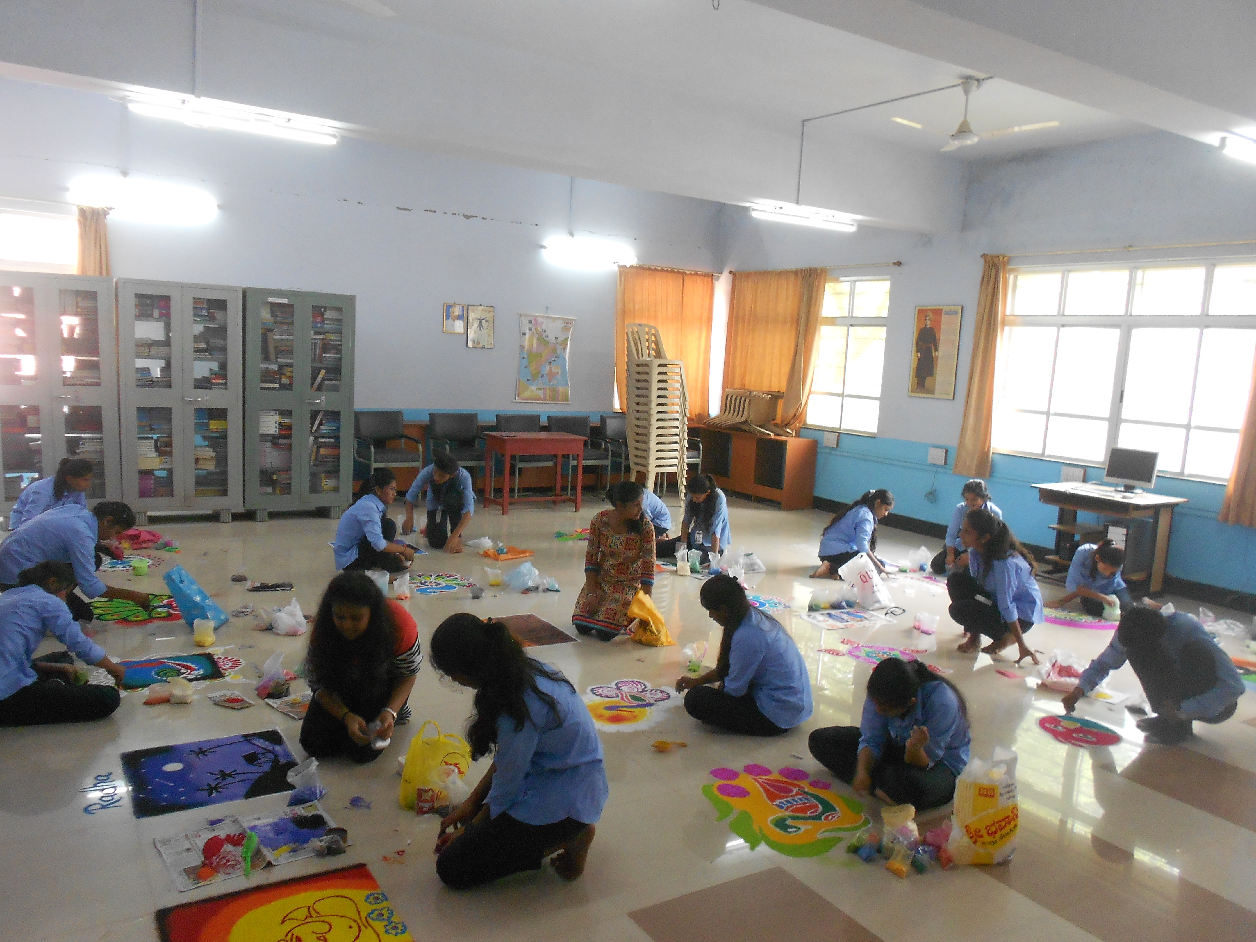 Rangoli Competition for BBA students – Rani Parvati Devi